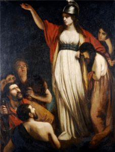 Portrait of Boadica Haranguing The Britons by John Opie