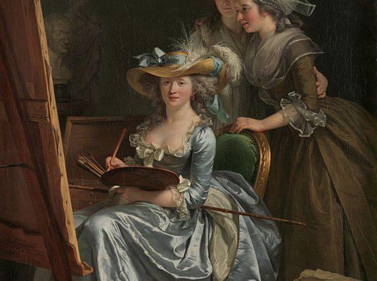 Artist Adélaïde Labille-Guiard self-portrait