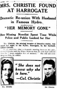 Newspaper Clipping of Christie's Disappearance