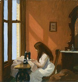 Edward Hopper's Girl at the Sewing Machine