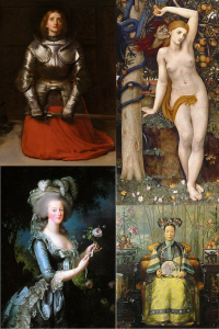 Four paintings of historically maligned women