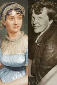 Image of Jane Austen and Amelia Earhart