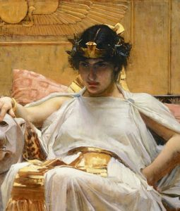 Painting of Cleopatra by Waterhouse