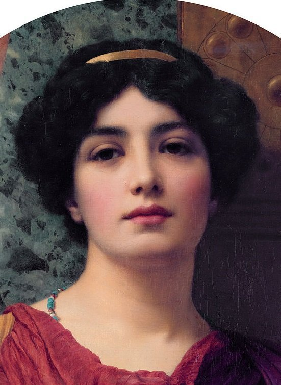 Painting of Roman Woman by Godman (1903)